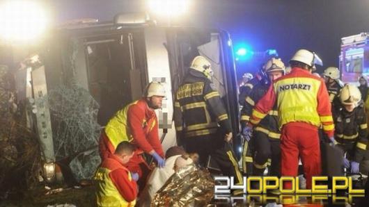 Wypadek polskiego autokaru pod Berlinem. 11 osób rannych.
