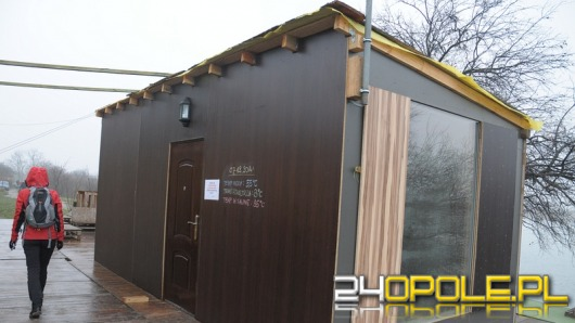 Przy kamionce Silesia działa sauna