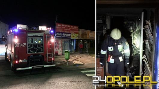 Pożar kiosku na ul. Witosa w Opolu