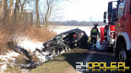Czołowe zderzenie podczas wyprzedzania. Zginął 74-letni kierowca.