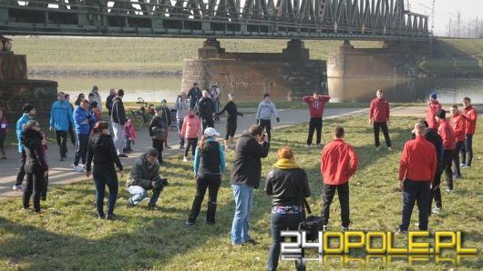 Opolanie ćwiczyli wspólnie z piłkarzami Odry