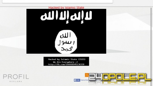 Strona opolskiej firmy zaatakowana przez sympatyków Państwa Islamskiego