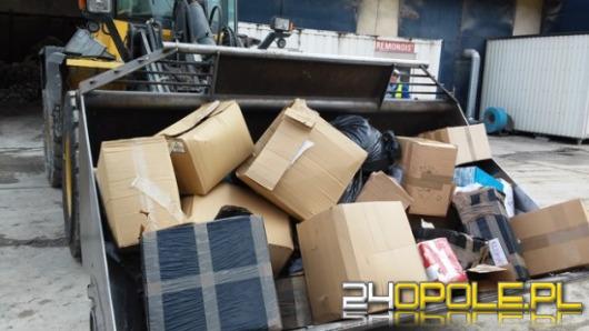 1200 kg nielegalnych wyrobów tytoniowych poszło z dymem