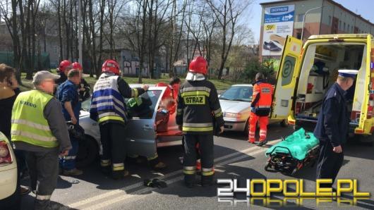 Wypadek czterech samochodów na ul. Nysy Łużyckiej