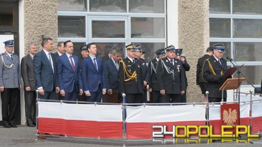 Strażacy z Opola odebrali dziś awanse i odznaczenia