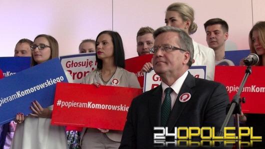 Prezydent Bronisław Komorowski walczył o głosy w Opolu