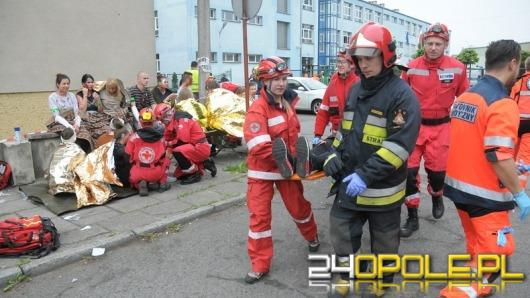 50 uczniów rannych. Ćwiczenia w Zespole Szkół przy ul. Licealnej