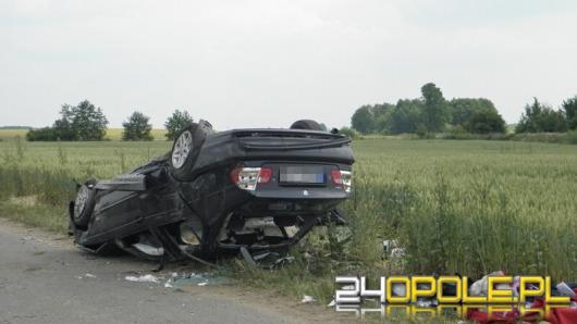 BMW dachowało na autostradzie A4. W akcji śmigłowiec LPR.