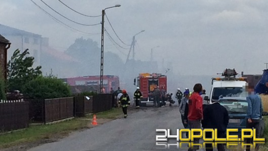 13 zastępów straży pożarnej gasiło pożar w Ganie