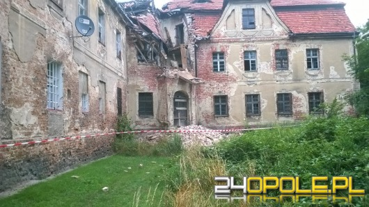 Zawaliła się wieża zamku w Ciepielowicach