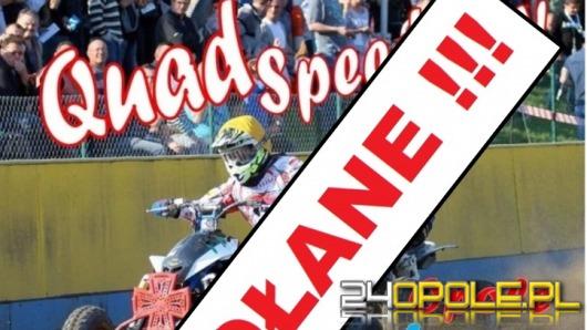 Turniej quad speedway'a został odwołany