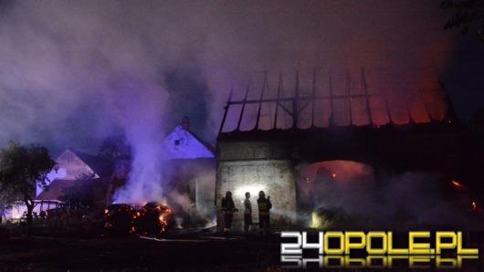 Pożar stodoły w Łosiowie, dwie osoby ranne