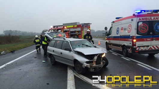 """Dwaj kierowcy ranni po wypadku na """"grzybku"""""""