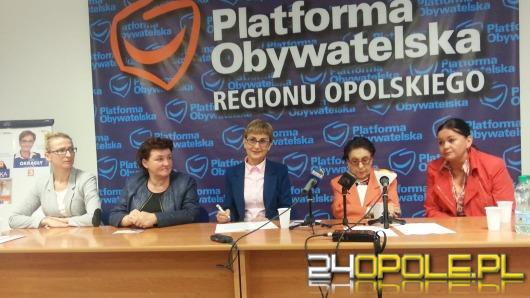 PO przedstawiła swoje kandydatki do Sejmu