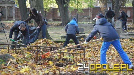 Opolanie sprzątają zabytkowy cmentarz przy ul. Wrocławskiej