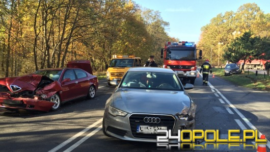 Zderzenie trzech samochodów na ul. Strzeleckiej