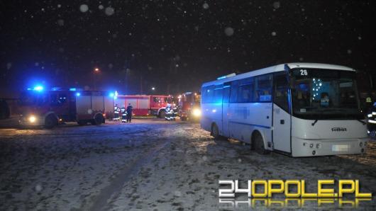 Pożar w autobusie na ul. Grudzickiej