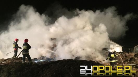 Pożar sterty słomy w Sławicach