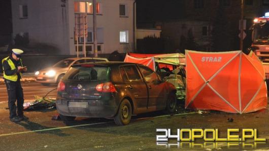 34-letnia pasażerka volkswagena zginęła w wypadku na ul. Wrocławskiej
