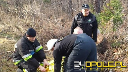 Chory 61-latek zgubił się i spędził noc w lesie