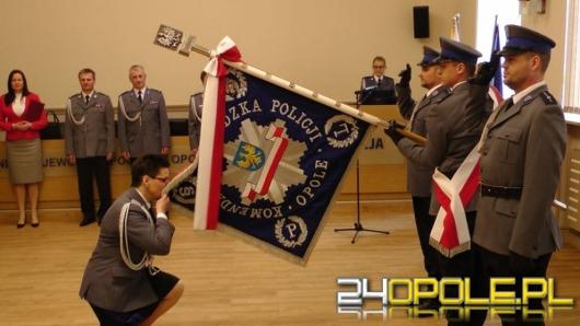 Opolscy policjanci żegnają komendant Irenę Doroszkiewicz