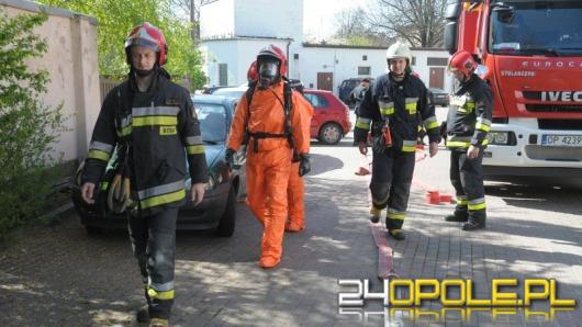 Strażacy ćwiczyli na lodowisku Toropol