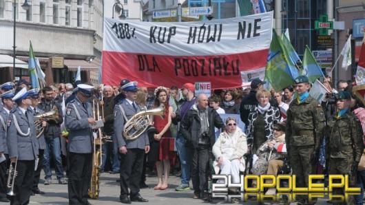 Przeciwnicy Dużego Opola protestowali dziś na Placu Wolności