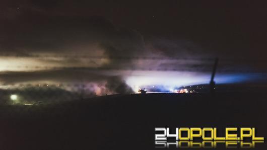 Nocny pożar na opolskim wysypisku śmieci