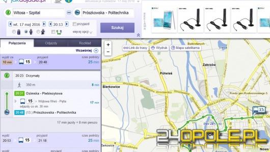 Serwis jakdojade.pl pomoże w planowaniu podróży po Opolu