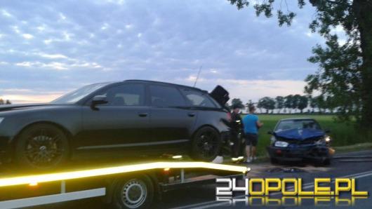 Dwa auta zderzyły się na trasie Głogówek - Tomice