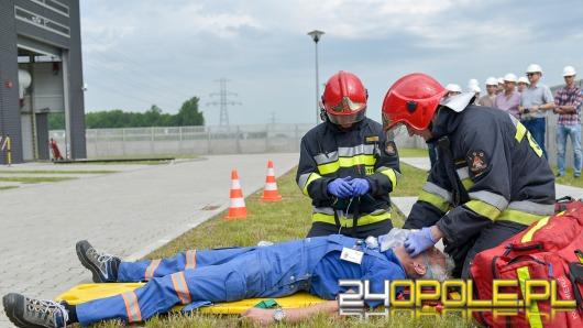 Opolscy strażacy ćwiczą na stacji transformatorowej w Bierkowicach