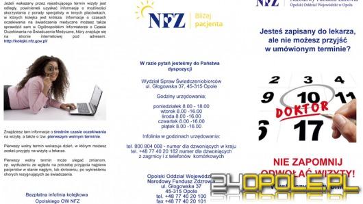 NFZ apeluje do pacjentów: Odwołujmy wizyty, na które nie możemy przyjść!