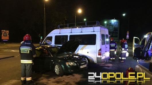 Nocny wypadek na ulicy Wrocławskiej w Opolu