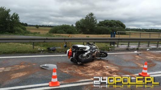 Policjant-motocyklista ranny w wypadku na obwodnicy