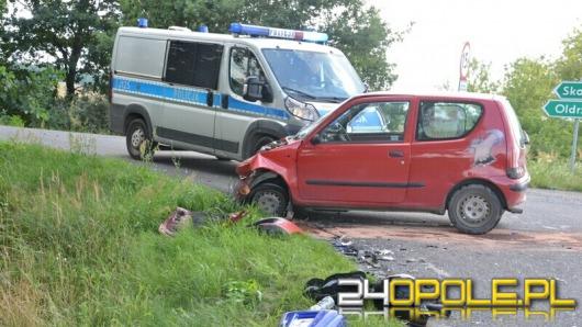 Motocyklista ranny w wypadku pod Lewinem Brzeskim