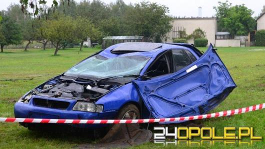Kierowca audi ranny w wypadku pomiędzy Węgrami a Osowcem