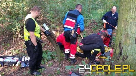Sukces opolskich strażaków. Poszukiwany starszy mężczyzna odnaleziony.
