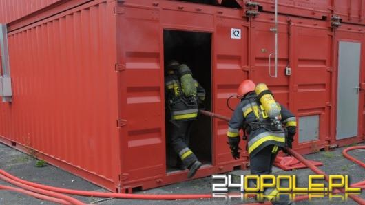 Opolscy strażacy ćwiczyli w supernowoczesnym symulatorze pożarów
