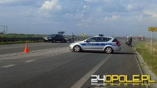 Motocyklista i jego pasażerka ranni w wypadku pod Prudnikiem