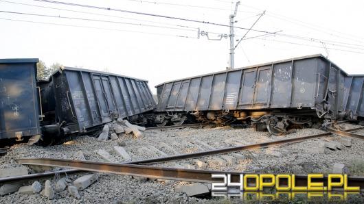 Pod Tarnowem Opolskim wykoleił się pociąg z węglem