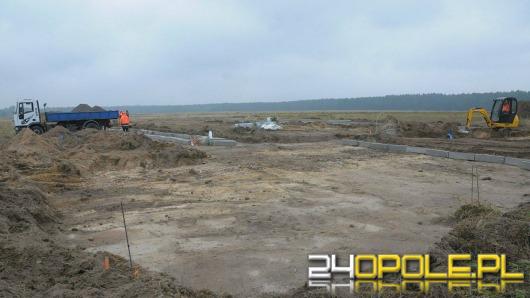 Budowa tymczasowej bazy LPR w Polskiej Nowej Wsi idzie pełną parą