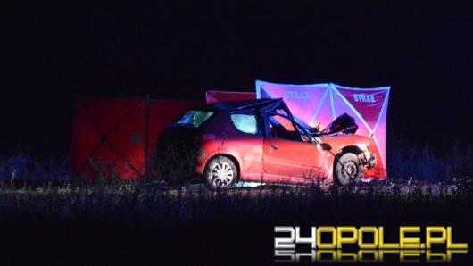 Kierowca peugeot zginął w wypadku pod Opolem