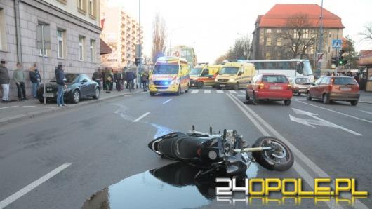 Motocyklista zginął w wypadku w centrum Opola, nie żyje także pasażerka [Nowe informacje]