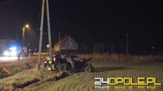 Audi dachowało w Gnojnej. 19-latek wypadł z pojazdu.