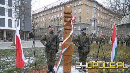 Nad Młynówką uroczyście odsłonięto polsko-węgierski obelisk