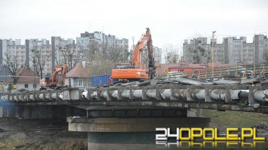 Ruszyły prace rozbiórkowe na moście na ul. Niemodlińskiej