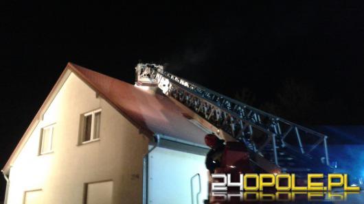 Pożar w domu jednorodzinnym w Luboszycach