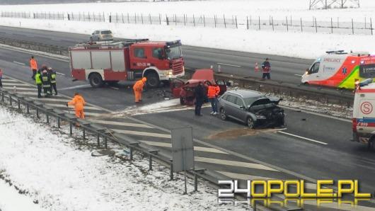 Dwa wypadki na A4. Autostrada w kierunku Wrocławia jest już przejezdna.