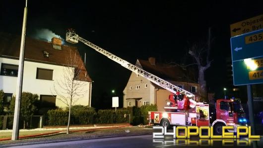Pożar sadzy w kominie przy ulicy Prószkowskiej