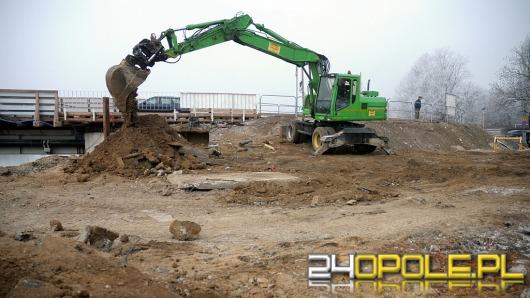 Prace przy budowie mostu na ul. Niemodlińskiej idą pełną parą